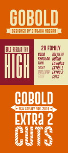 Sample Picture of Compete Family of GOBOLD Font by Situjuh Nazara
