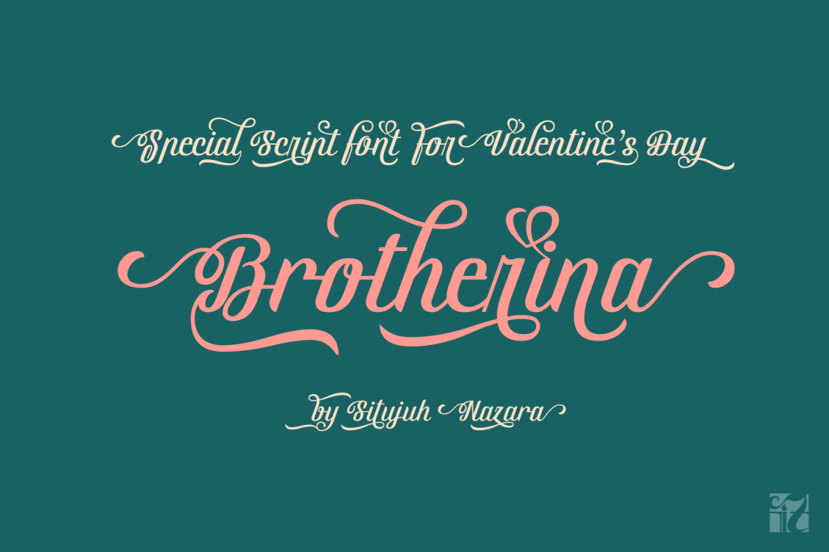 Brotherina, Valentine's day font