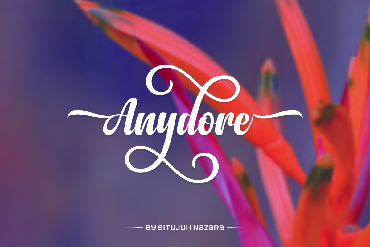 Anydore: An elegant and strong handwritten script