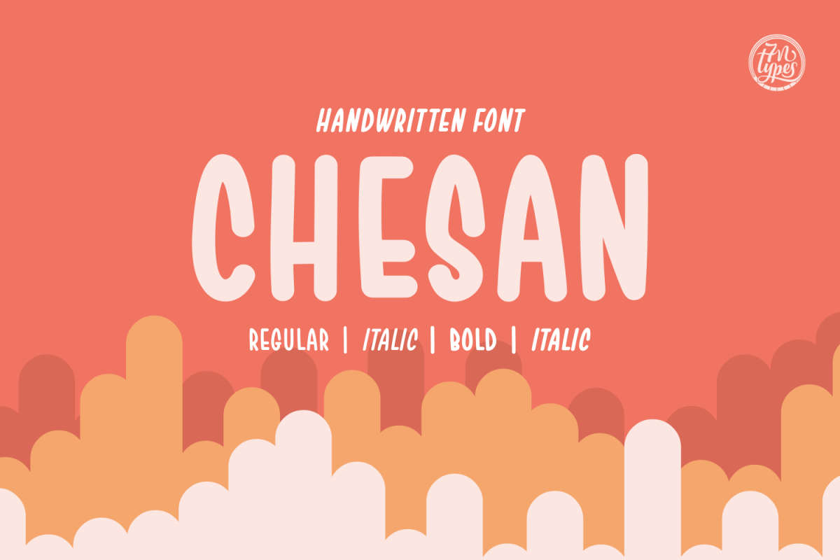 Chesan: A playful handwritten font that has a cartoonesque feeling