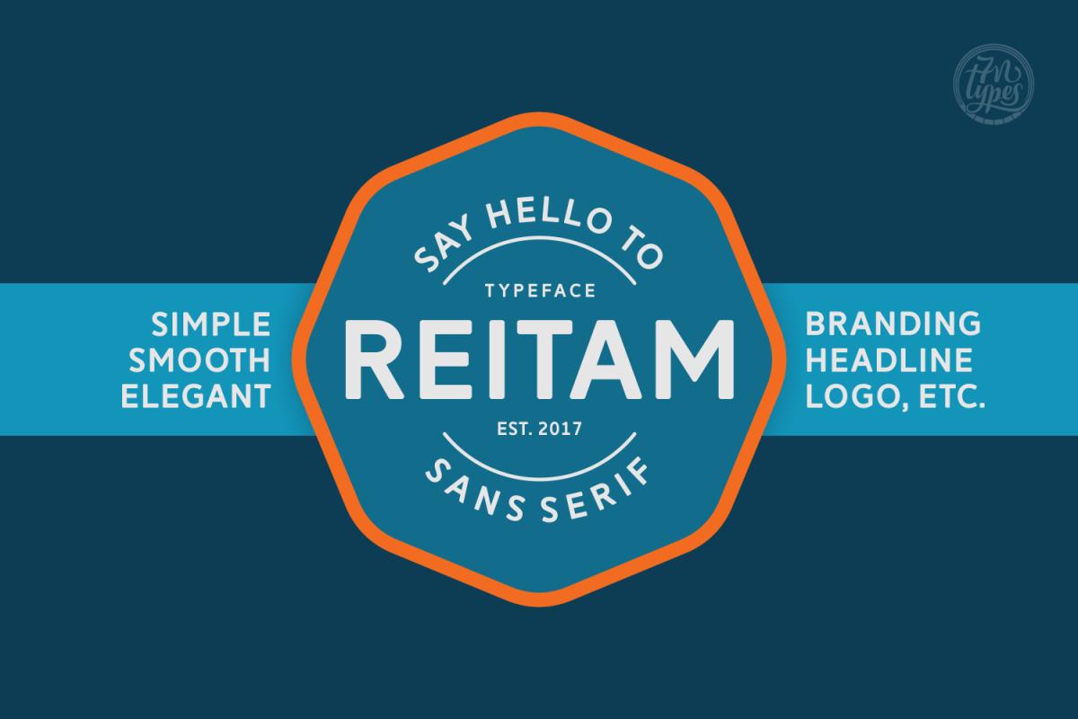 Reitam: A (super) clean sans serif font
