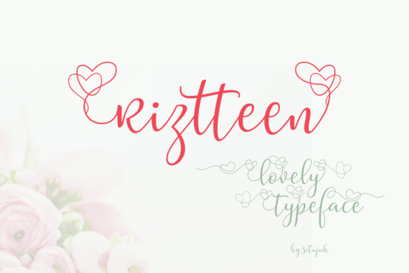 New Font For Valentine, Wedding, And Lovely Cute Design