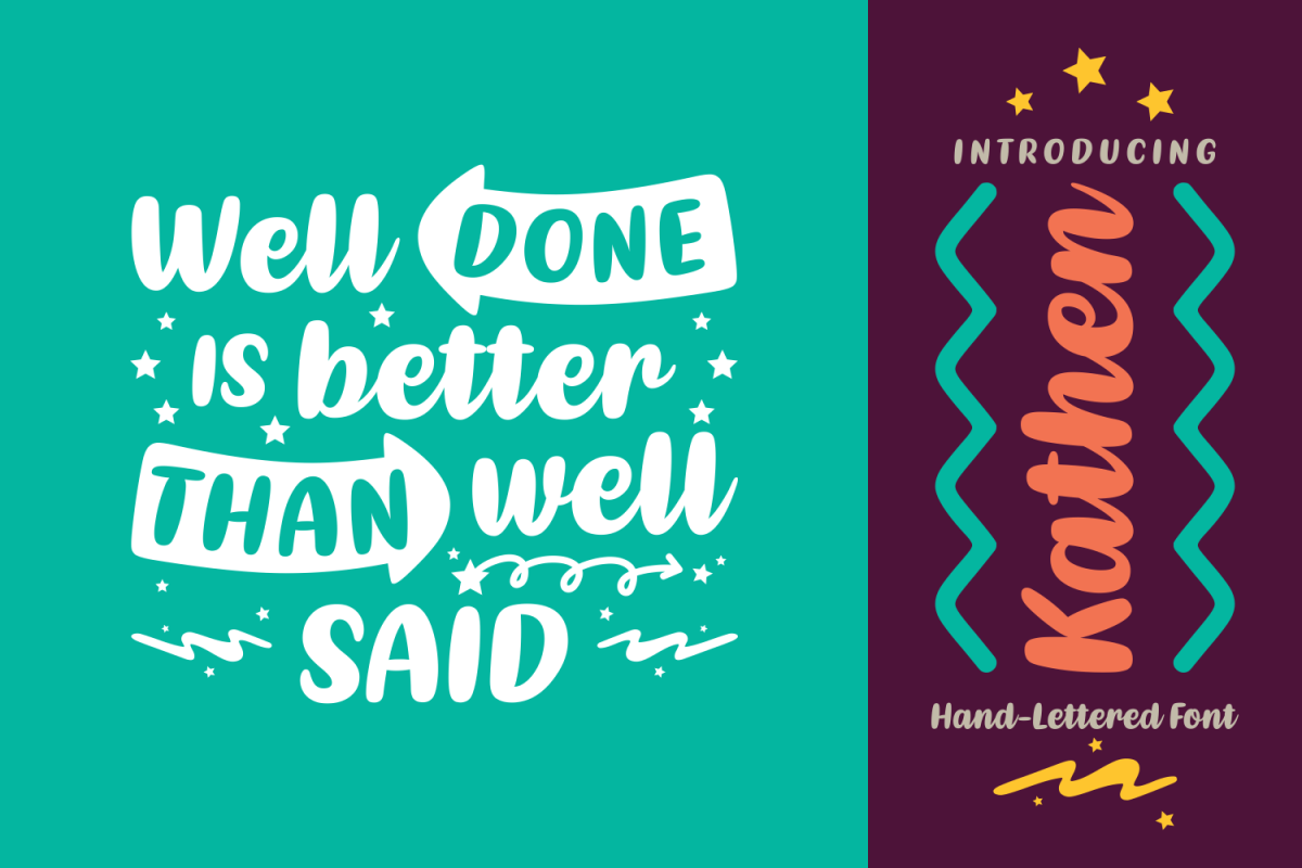 Kathen: A jaw-droppingly beautiful font, handwritten and full of love!