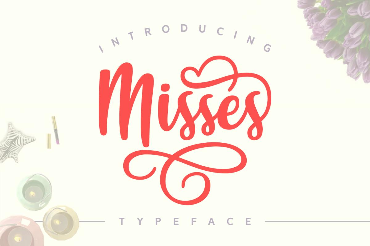 Misses Font: A gorgeous handwritten script