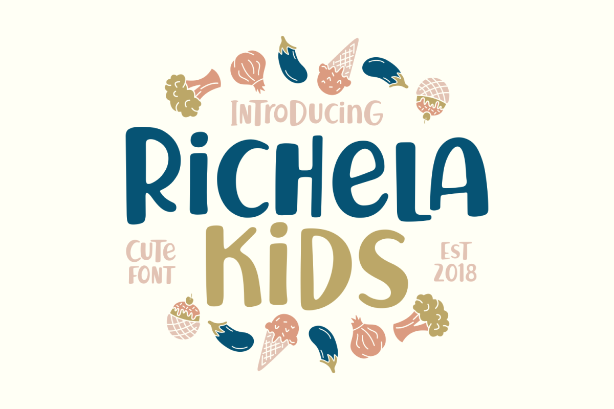 Richela Kids: A cute font