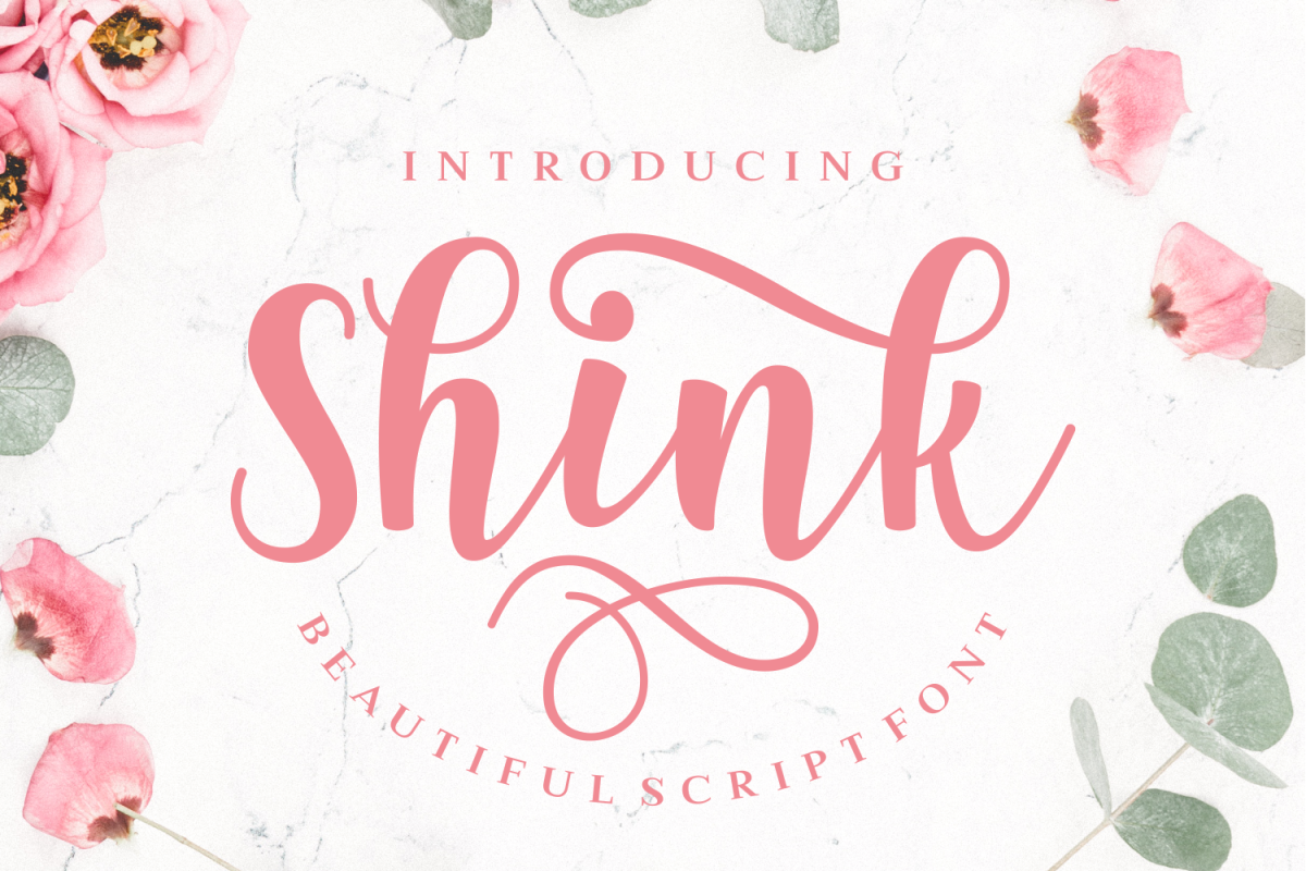 Shink: A beautiful script font which is full of swirly alternates