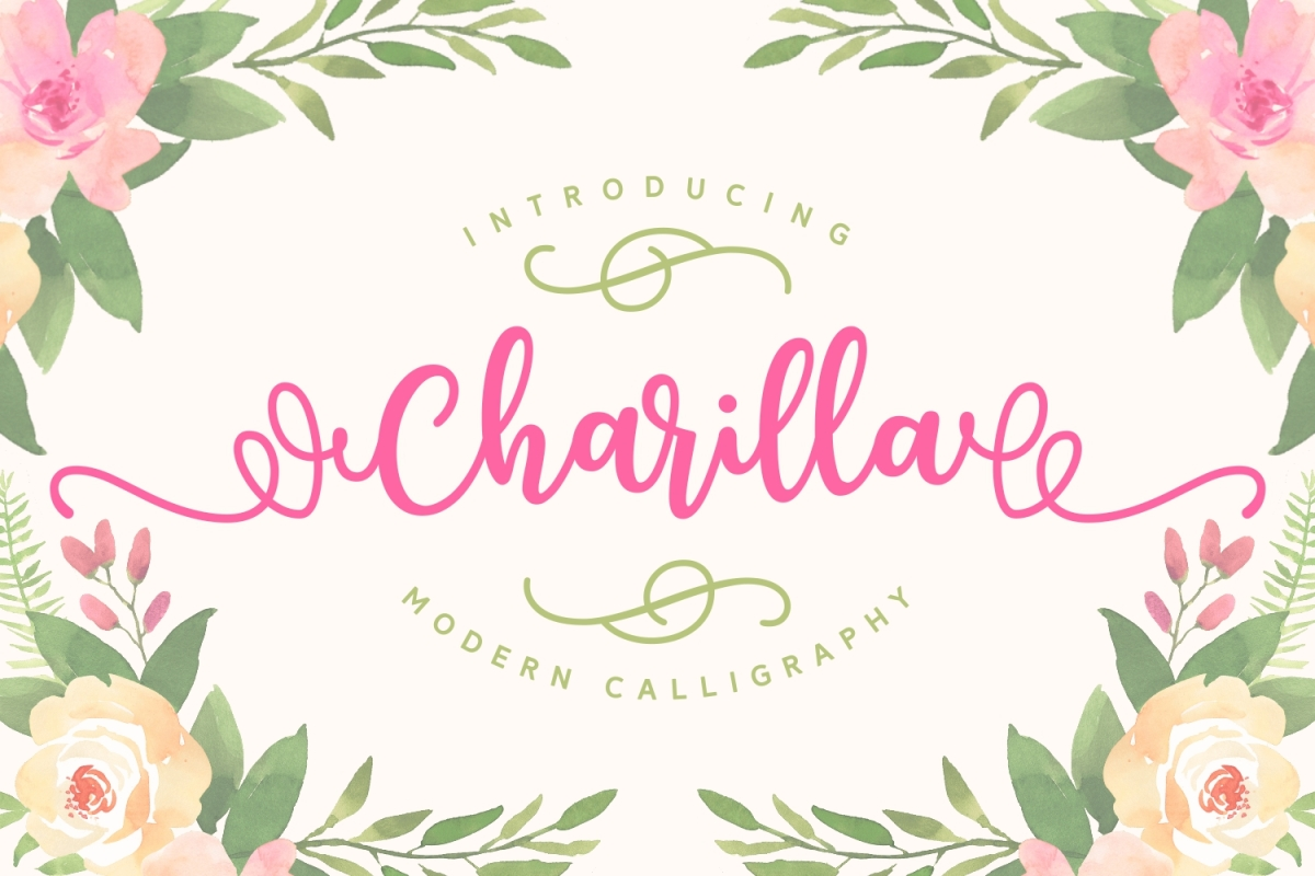 Charilla Font: A gorgeous, classical calligraphy font with a modern twist.